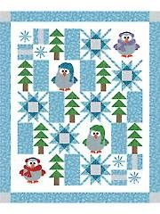 Applique Baby & Kids Patterns - Winter Whoo Quilt Pattern from Annie's Craft Store. Order here: https://www.anniescatalog.com/detail.html?prod_id=126143&cat_id=1721