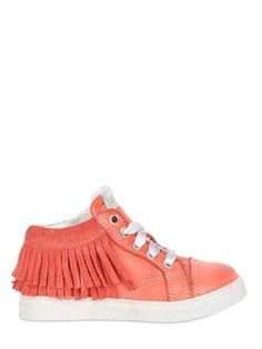 Momino Fringed Leather Sneakers on shopstyle.com