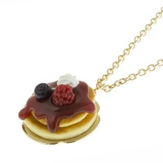 Raspberry Pancake Necklace | Q-pot.