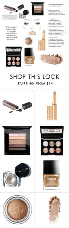 """""""golden article"""" by littlebitfishey ❤ liked on Polyvore featuring beauty, Wander Beauty, MAC Cosmetics, Witchery, Butter London and Christian Dior"""