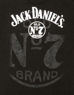 Jack daniels whiskey scroll logo black graphic t shirt for Pochoir jack daniels