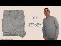 How to knit men's sweater - video tutorial with detailed instructions. - YouTube