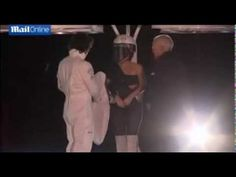 ▶ Lady Gaga hover over the stage in her flying dress [the Volantis] TEST NY - AMAZING! - YouTube