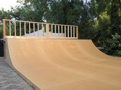 We appreciate every opportunity we have to go install a halfpipe on site. I couple of weeks ago we had the chance to go to (singer) Melissa Etheridge's house in Los Angeles to build a custom skateboard ramp. Obviously, when we build these ramps for celebrities, its not really going for them– the ramps are