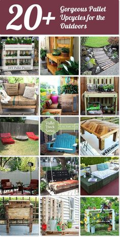 20 Gorgeous Pallet Upcycles For The Outdoors Idea Box By APieceofRainbow DIY ProjectsPallet