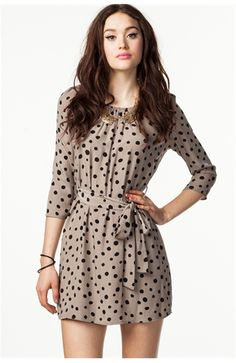 A'GACI Fun Dot Shift Dress - DRESSES