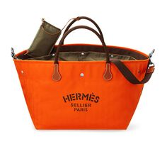"""Hermes herringbone bag in fire chevron canvas and cowhide leather details, removable inside basket with polyamide lining, detachable zipped pocket, shoulder strap, """"Hermès Sellier"""" print, saddle-covered seams. 18"""" long x 14"""" wide x 12"""" high"""