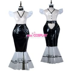 clear PVC vinyl dress Fish Tail Unisex  tailor-made[G2247] | eBay