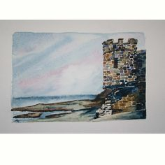 On the Banks of the Shannon , original watercol... - Folksy