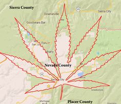 """A """"locally correct"""" revision of Nevada County's boundaries proposed by the citizen's group CARP."""