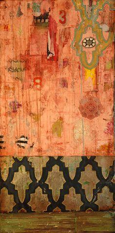"""Pleasant Dreams"", mixed media on canvas, SOLD ( 13 / 13 ) Jill Ricci Mixed Media Artwork, Mixed Media Collage, Mixed Media Canvas, Collage Art, Illustrations, Mail Art, Art Festival, Art Images, Modern Art"