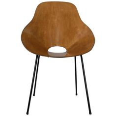 Mid-Century Plywood Chair in Vittorio Nobili Style 1