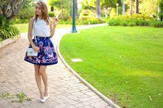 f16f97dc4e7 LA by Diana - California Fashion Blog, Personal Style Blog, LA fashion blog,  2014 Fashion Trends  Sheer Bowknot and Rose Garden Skirt
