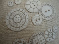 pretty embroidered buttons by Mandy Shaw