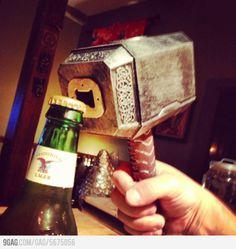 Mjollnir bottle opener. Too cool.