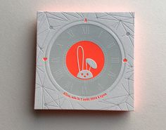 Print : Badcass - Design : Julien Tatoian - Faire-part de naissance en letterpress - #débossage #pantone #fluo