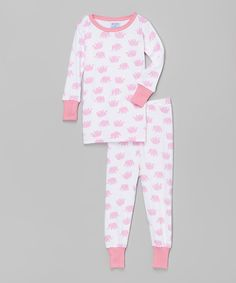 Another great find on #zulily! Pink Elephants Pajama Set - Infant & Kids by Baby Steps #zulilyfinds