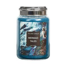 Large Glass Jars, Large Candles, Best Candles, Scented Candles, Candle Jars, Yankee Candles, Candle Reading, Clean Fragrance, Mermaid Tale