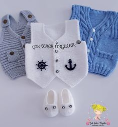 Baby romper set crochet pattern Newborn boy romper overalls Outfit beige overall Baby dragon diaper cover Baby home outfit Baby girl overall Knitted Baby Cardigan, Knit Baby Sweaters, Newborn Crochet Patterns, Knit Patterns, Knitting For Kids, Knitting Socks, Romper Pattern, Crochet Baby Clothes, Baby Vest