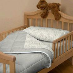 Light Blue Linen Toddler Bedding