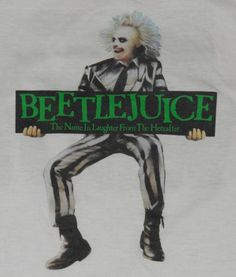 """Maybe you can relax in a haunted house, but I can't"" Original Beetlejuice movie t-shirt. Comedy Movies, New Movies, Beetlejuice Movie, Movie T Shirts, Classic Movies, Vintage Movies, I Movie, 1980s, Netflix"