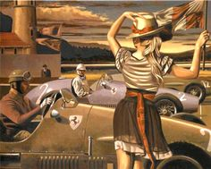 . Florence Academy Of Art, Creation Photo, Art Deco Posters, Car Posters, Edward Hopper, Portraits, Peregrine, Retro Art, Art Deco Fashion