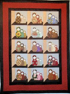 Matryoshka in Attic Windows, photo by Deborah Raymond at Wonder Woman Creations (Utah) as seen at Quilt Inspiration