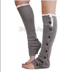 Light grey leg warmers(NWT)Last Pair! SALE..TODAY Very cute and comfy , brand new in package Accessories Hosiery & Socks