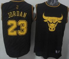 Bulls  23 Michael Jordan Black Precious Metals Fashion Stitched NBA Jersey  Cheap Nba Jerseys 13e101607