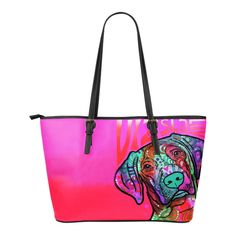 """$109.99 - $49.99 Vizsla Small PU Leather Tote Bags   Are you a Vizsla Owner who loves their Dog? Then these custom designed Premium PU Leather Tote Bags are a MUST HAVE!  Manufactured with premium water-resistant PU leather. Features a double-sided print Features comfortable and sturdy 10"""" carrying straps with high-quality stitching for long-lasting durability. Finished with multiple interior compartments to keep your items organized.   Each tote bag measures 16"""" x 5"""" x 10&quo..."""