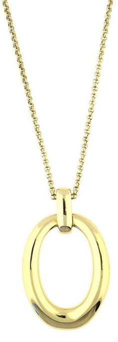 ESPRIT Charm-Kette »Organic link ESNL13096B900« für 51,94€. Erstklassige Halskette von Esprit, Aus Edelstahl und in der Farbe Gold bei OTTO