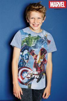 Blue Age Of Ultron Avengers T-Shirt (3-16yrs)