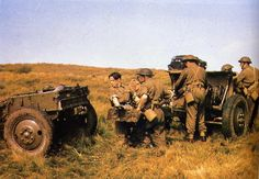 Polish Armoured Division, Scotland, April Gunners of the Medium Artillery Regiment preparing their guns for action during field exercises Navy Air Force, Army & Navy, Commonwealth, Armed Forces, Division, World War, Wwii, Poland, Monster Trucks