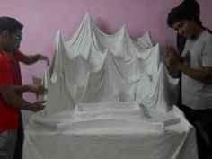 Himalayan Mountain Decoration For Ganpati Flower Decoration For Ganpati, Eco Friendly Ganpati Decoration, Ganpati Decoration Design, Mandir Decoration, Ganapati Decoration, Ganesh Pooja, Ganesha, Ganpati Picture, Ganesh Chaturthi Decoration