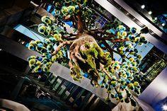 azuma makoto suspends fur tree inside fendi pop-up boutique in tokyo