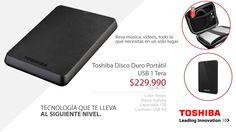 Cod. BE741 Color: Negro Marca: Toshiba Capacidad: 1TB Conexión: USB 3.0 Más Información: Ofrece un almacenamiento espacioso y tiempos de lectura/escritura rápidos. Brinda amplio espacio de almacenamiento para su música, películas y más