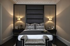 Courtesy of Boscolo Interior Design - textures, light, toned colours in bedroom