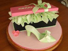 shoebox cake--spring colors!