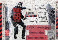 vogliamo l'impossibile  [collage mail art Christine Leroy]