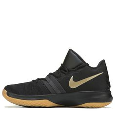 Nike Men's Kyrie Flytrap Basketball Shoes (Black/Gold) Basketball Shoes, Herringbone, Black Gold, Black Shoes, Nike Men, Sneakers Nike, Lace Up, Mens Fashion, Sport