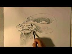 Hoe teken je een Slang / dieren tekenen / #10