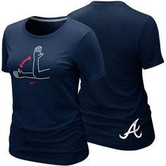 Nike Atlanta Braves Ladies Tomahawk Chop Local Premium T-Shirt