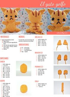Amigurumi Pikachu Patron En Espanol : 1000+ images about crochet on Pinterest Amigurumi ...