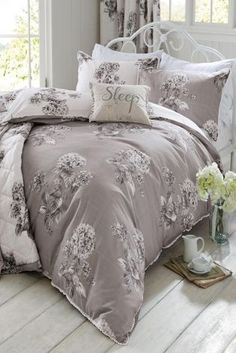 Buy Elegant Hydrangea Cotton Sateen Print Bed Set online today at Next: Rep. of Ireland
