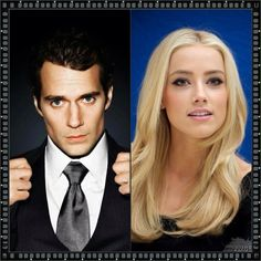 My re cast I agree amber heard compliments Henry cavill my Gideon Cross and Eva Tramell (Crossfire trilogies)