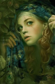 The Player Princess; By Melanie Delon. (blond hair, green eyes, scar, curls,, blue scarf, ivy, sneaking, hiding)