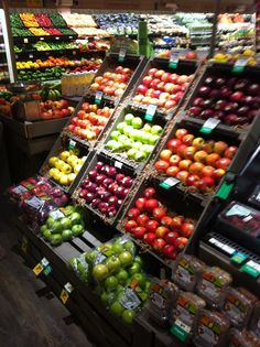 Rainbow display of fresh produce
