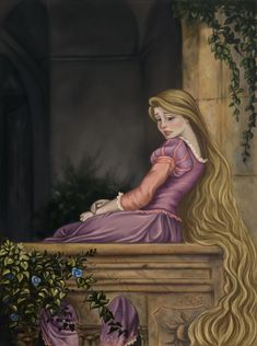 I based this on a piece of a Lady resting in a kind of balcony that I match with Rapunzel, Hope you'll like it 'cause I like it so much. I was so ispired doing this, hope you see all the details. Disney Pixar, Arte Disney, Disney Fan Art, Disney Animation, Disney And Dreamworks, Disney Cartoons, Disney Characters, Disney Princess Rapunzel, Tangled Rapunzel