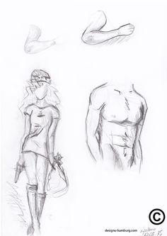 Studie menschlicher Körper