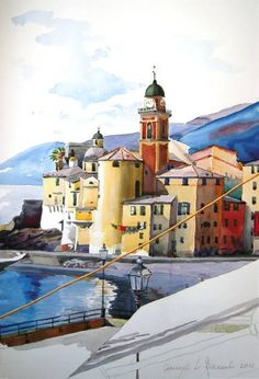 """Saatchi Art Artist Luba Boccardi; Painting, """"Italia, Liguria, Camogli"""" #art"""